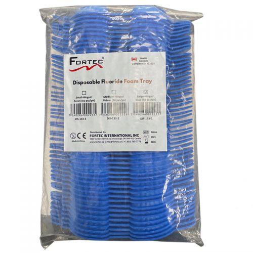 Disposable Floride Trays Large Blue Hinged 50 Pcs/Pk