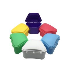 Denture Box Blue, Pink, Yellow 12 pc/Pk