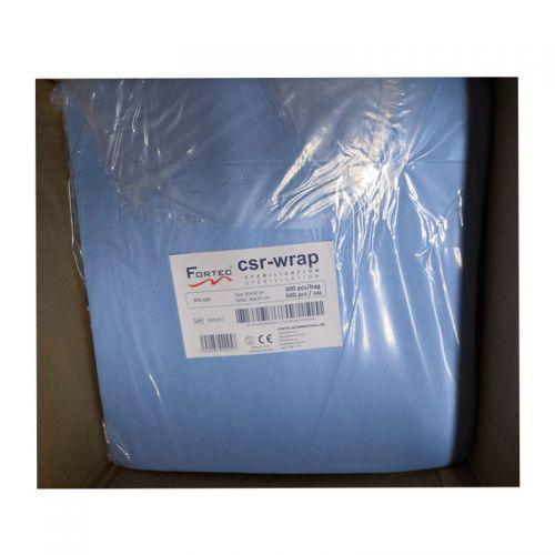 Sterilization Wrapping Paper Crepe, 60 g/m2 Blue 50 cm x 50 cm 500 PCS / PK