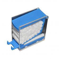 Cotton Roll Dispenser Press Blue