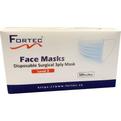 Disposable Surgical Face Mask Level-2 Made in Canada 50pcs/Box