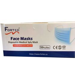 Disposable Medical 3ply Face Mask TYPE IIR EN 14683:2019 50pcs/Box, Made in China