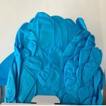 90 Pcs Extra Large 5mil Blue Nitrile Gloves, Powder Free, Made in Malaysia