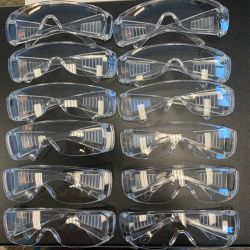 Safety Goggles Anit-fog Clear 12pcs/pk
